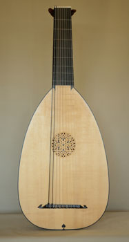 Front view of Bass Lute  - Grant Tomlinson Lutemaker