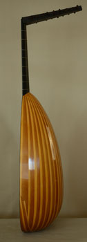 Side view of Bass Lute  - Grant Tomlinson Lutemaker