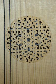 Rose pattern of Bass Lute  - Grant Tomlinson Lutemaker